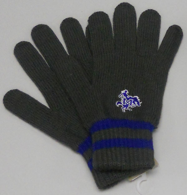 Image For GLOVES RYL GRY MSU