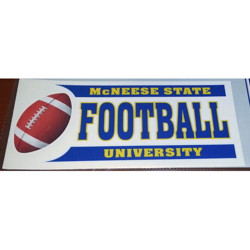 Image For DECAL FOOTBALL BAR
