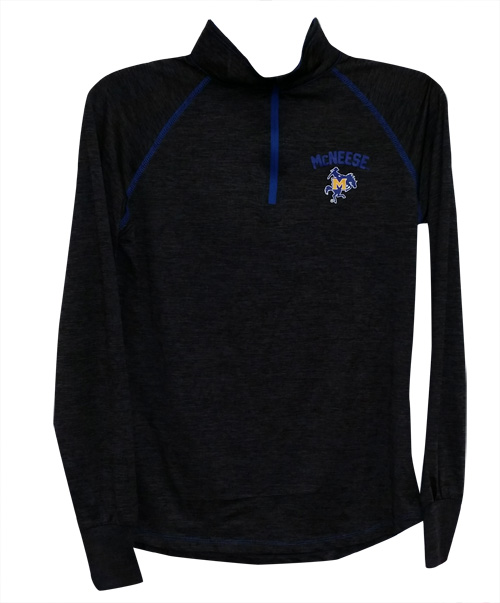 Image For 1/4 ZIP GRY WMN HTHR RYL