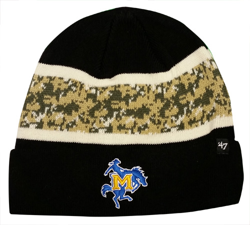 Image For BEANIE BLK OHT CAMO STRIP