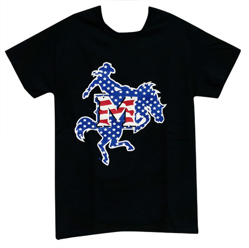Image For TEE BLK LOGO USA WEB