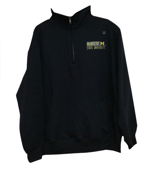 Image For 1/4 ZIP BLK MCN LC WEB