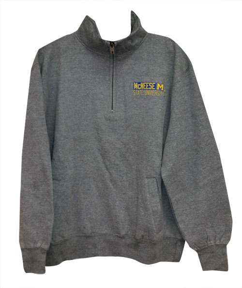 Image For 1/4 ZIP GRY MCN LC WEB