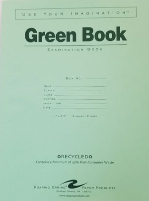 Image For GREEN BOOK 8.5x11