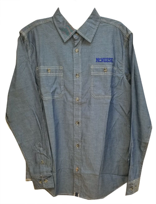Image For CLR CHAMBRAY MCNEESE EMB