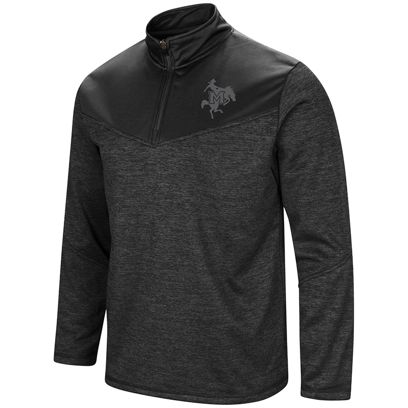 Image For 1/4 ZIP BLK HTHR TONA LOG