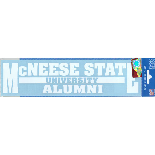 Image For DECAL ALUMNI WHT BAR