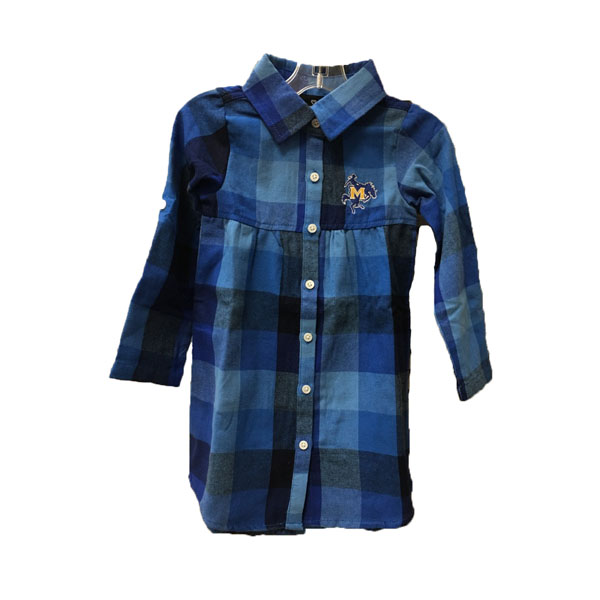 Image For DRESS RYL PLAID YTH LOGO